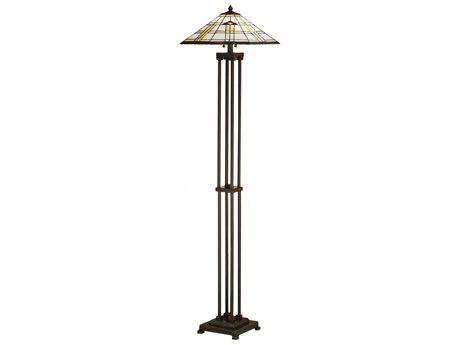 Meyda Tiffany Arrowhead Mission Brown Floor Lamp MY31240
