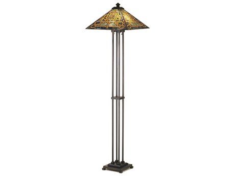 Meyda Tiffany Knotwork Mission Multi-Color Floor Lamp MY48023