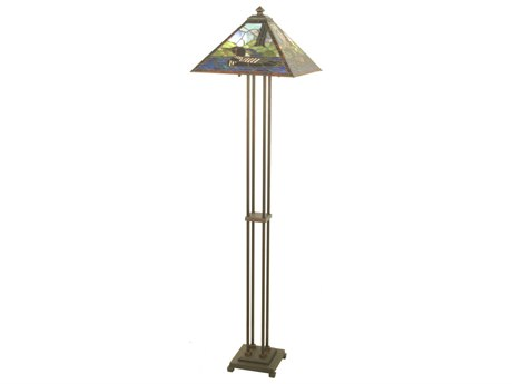 Meyda Tiffany Loon Multi-Color Floor Lamp MY69274