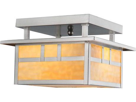 Meyda Tiffany Double Bar Mission Two-Light Flush Mount Light