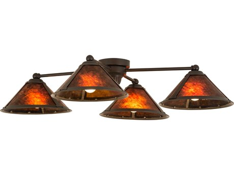 Meyda Tiffany Van Erp Four-Light Flush Mount Light MY130746
