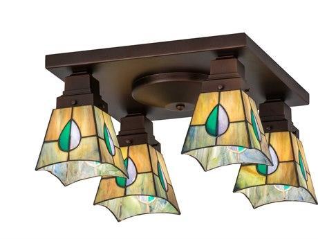 Meyda Tiffany Alcove Four-Light Flush Mount Light MY144231