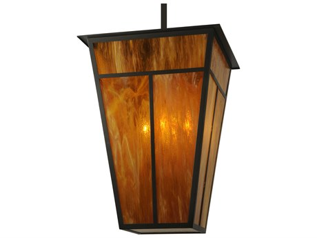 Meyda Tiffany T Mission  Six-Light Outdoor Hanging Light