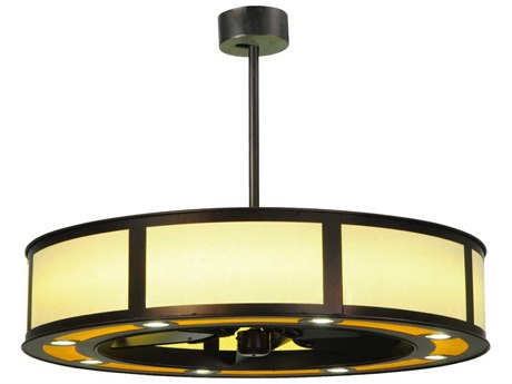 Meyda Tiffany Maplewood Beige Linen LED Ten-Light Chandel-Air