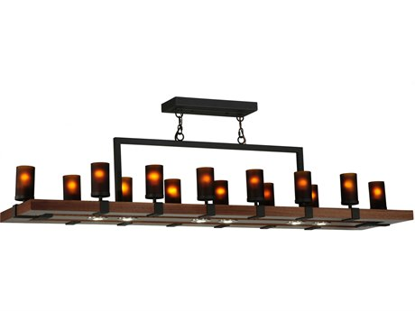 Meyda Tiffany Grand Terrace LED Oblong 14-Light 72'' Wide Island Light MY135930