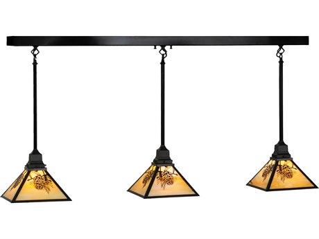 Meyda Tiffany Winter Pine Three-Light Island Light MY143181