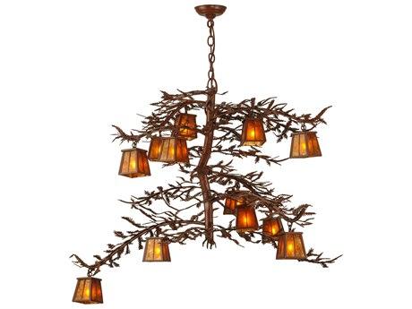 Meyda Tiffany Pine Branch 12-Light 48 Wide Grand Chandelier MY147616