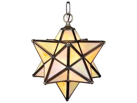 Meyda Tiffany Moravian Star Beige Iridescent Mini-Pendant Light MY12123