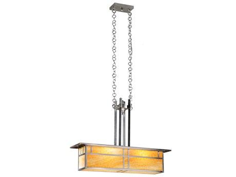 Meyda Tiffany Double Bar Mission Oblong Two-Light Pendant Light