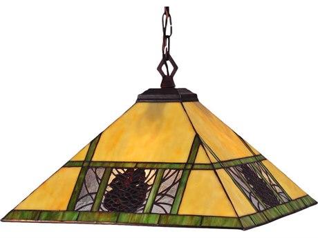 Meyda Tiffany Pinecone Ridge Four-Light Pendant Light