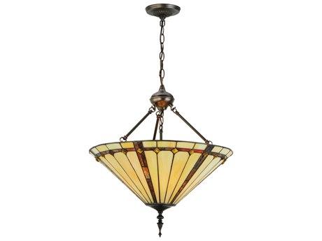Meyda Tiffany Belvidere Inverted Three-Light Pendant MY142898
