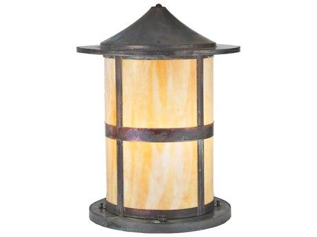 Meyda Tiffany Fulton Beige Vintage Copper Outdoor Pier Mount Light MY107851