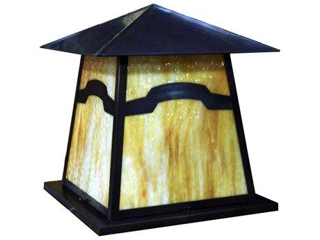 Meyda Tiffany Stillwater Mountain View Beige Craftsman Outdoor Pier Mount Light MY108112