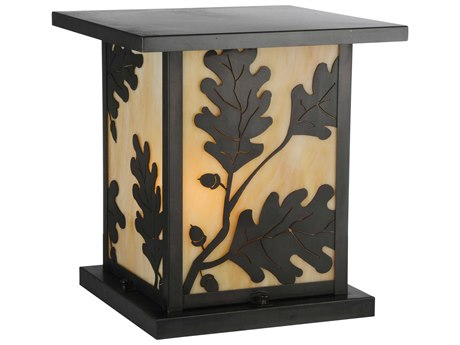Meyda Tiffany Hyde Park Oak Leaf Ca  Outdoor Pier Mount Light