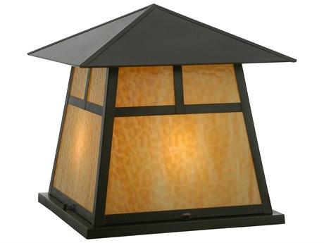 Meyda Tiffany Stillwater T Mission Beige Craftsman Four-Light Outdoor Pier Mount Light