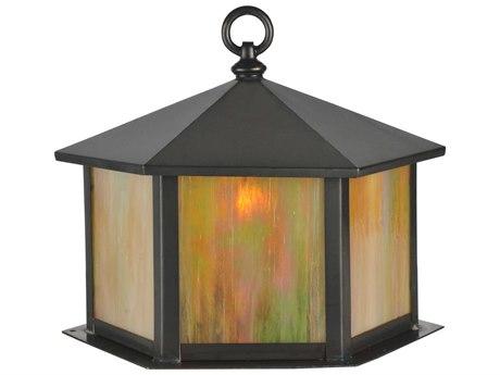 Meyda Tiffany Gazebo Craftsman Brown Outdoor Post Mount Light
