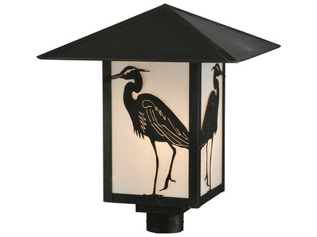 Meyda Tiffany Seneca Heron Ca Craftsman Outdoor Post Mount Light