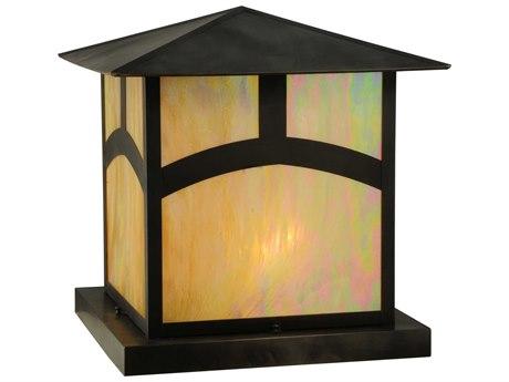 Meyda Tiffany Seneca Hill Top Beige Craftsman Four-Light Outdoor Pier Mount Light