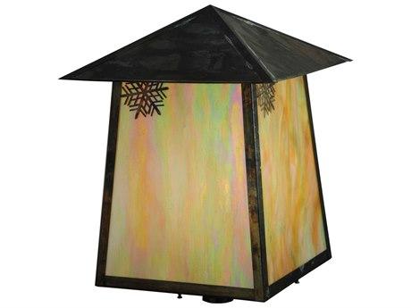 Meyda Tiffany Stillwater Snowflake Bai Vintage Outdoor Post Mount Light MY129246