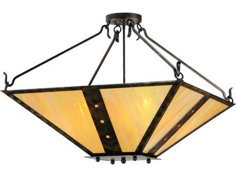 Meyda Tiffany Zandra Four-Light Semi-Flush Mount Light MY140660
