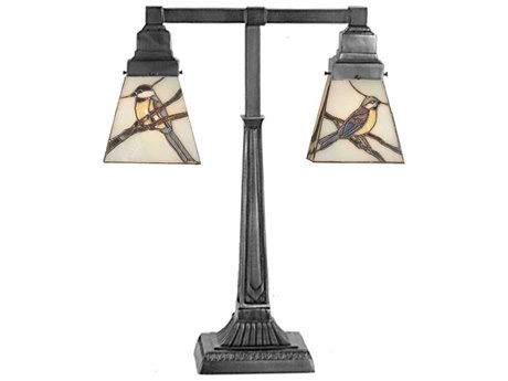 Meyda Tiffany Early Morning Visitors Multi-Color Table Lamp MY107400