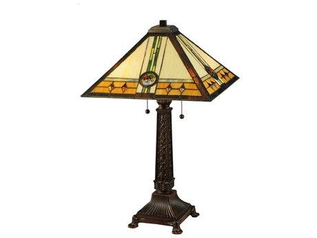 Meyda Tiffany Carlsbad Mission Multi-Color Table Lamp