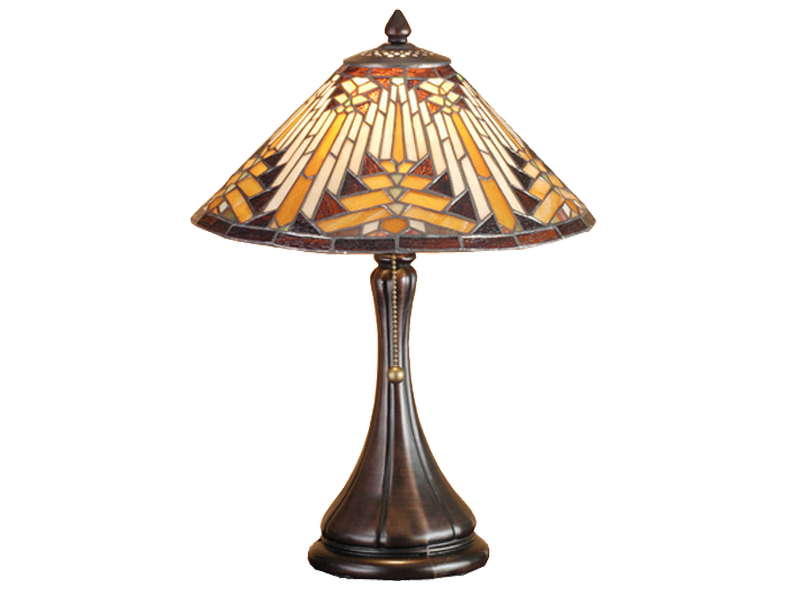 Meyda Tiffany Nuevo Mission Multi Color Accent Table Lamp