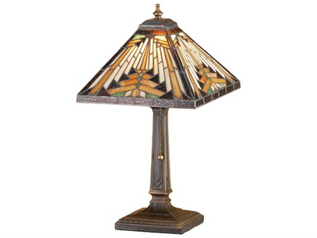 Meyda Tiffany Nuevo Mission Multi-Color Accent Table Lamp MY66231