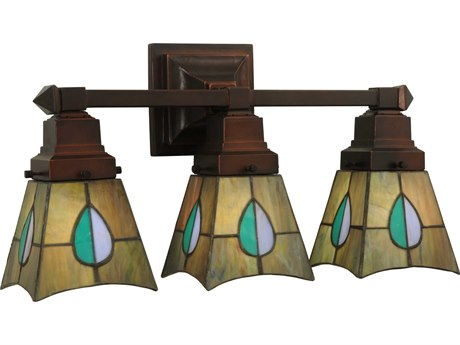 Meyda Tiffany Mackintosh Leaf Three-Light Vanity Light MY31231