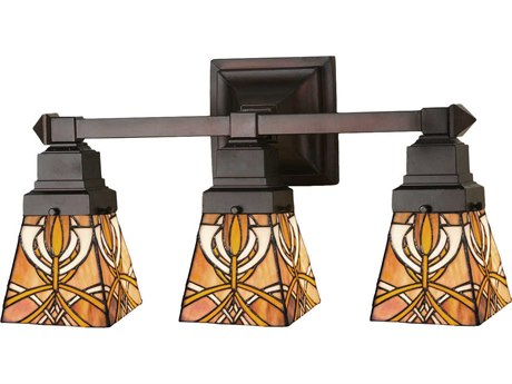 Meyda Tiffany Glasgow Bungalow Three-Light Vanity Light MY31234