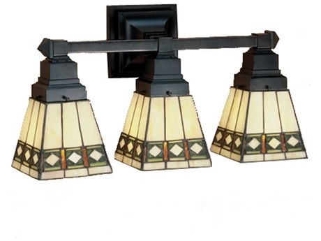 Meyda Tiffany Diamond Mission Three-Light Vanity Light MY48028