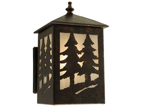 Meyda Tiffany Seneca Tall Pines Outdoor Wall Light