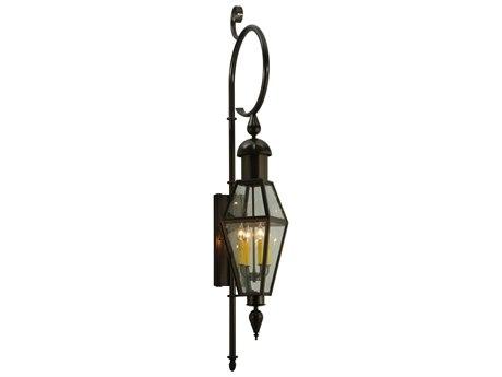 Meyda Tiffany August Four-Light Lantern Outdoor Wall Light MY125505