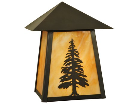 Meyda Tiffany Stillwater Tall Pine Outdoor Wall Light