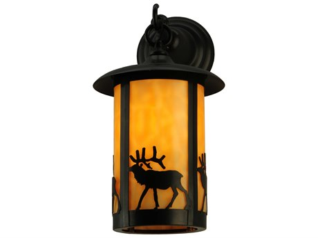 Meyda Tiffany Fulton Elk Hanging Outdoor Wall Light
