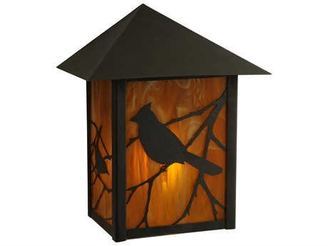 Meyda Tiffany Seneca Song Bird Outdoor Wall Light