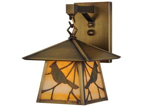 Meyda Tiffany Stillwater Song Bird Hanging Outdoor Wall Light