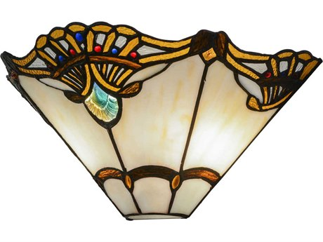 Meyda Tiffany Shell with Jewels Two-Light Wall Sconce MY144020
