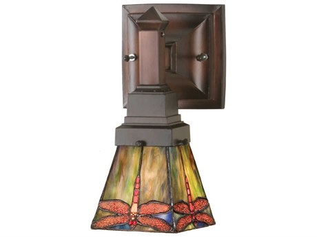 Meyda Tiffany Prairie Dragonfly Wall Sconce MY48187