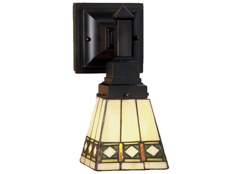Meyda Tiffany Diamond Mission Wall Sconce MY48191