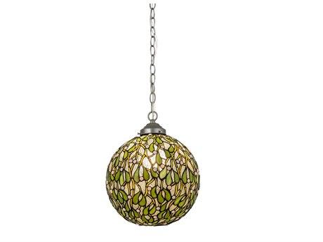 Meyda Lighting Mistletoe Ball Zaz White 12'' Wide Pendant Light