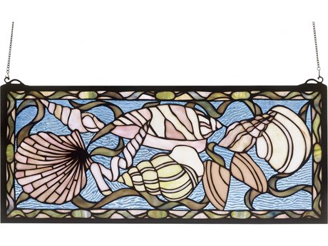 Meyda Tiffany Seashell Stained Glass Window MY36431