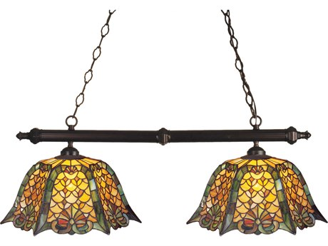 Meyda Tiffany Duffner & Kimberly Shell & Diamond Two-Light Island Light MY18844
