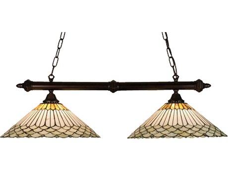 Meyda Tiffany Jadestone Fishscale Two-Light Island Light MY18856