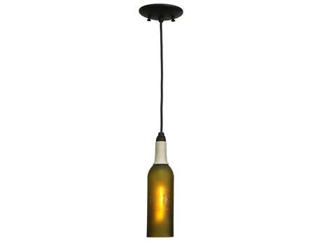 Meyda Tiffany Coastal Collection Compass Wine Bottle Mini-Pendant Light MY124128