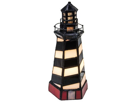 Meyda Tiffany Cape Hatteras Lighthouse Multi-Color Accent Table Lamp MY20539