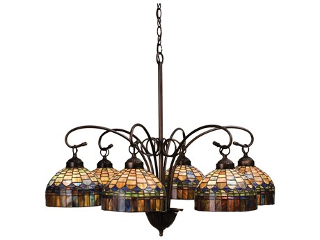 Meyda Tiffany Candice Six-Light 31 Wide Chandelier MY18693