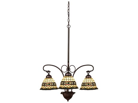 Meyda Tiffany Roman Three-Light 24 Wide Chandelier MY27421
