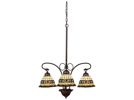 Meyda Tiffany Roman Three-Light 24 Wide Chandelier