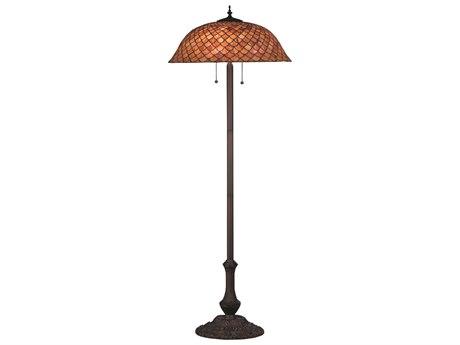 Meyda Tiffany Fishscale Brown Floor Lamp MY81064